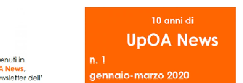 UpOA News n. 1 (gennaio-marzo 2020)